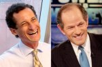 Anthony Weiner and Eliot Spitzer (photos: AP, Getty)