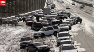 An Atlanta highway, January 26, 2014