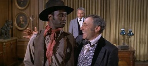 "Cleavon Little and Mel Brooks in ""Blazing Saddles"""