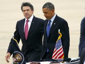 Gov. Perry and President Obama last week.