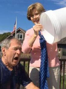 George W. Bush gets iced by the former First Lady