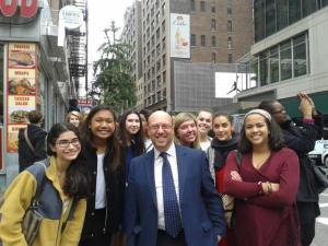 PRSSA members and me visited a NYC agency in October